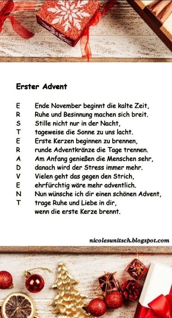 Pin Von Gedichte Nicole Sunitsch Auf Advent Erster Advent Advent Schonen Ersten Advent