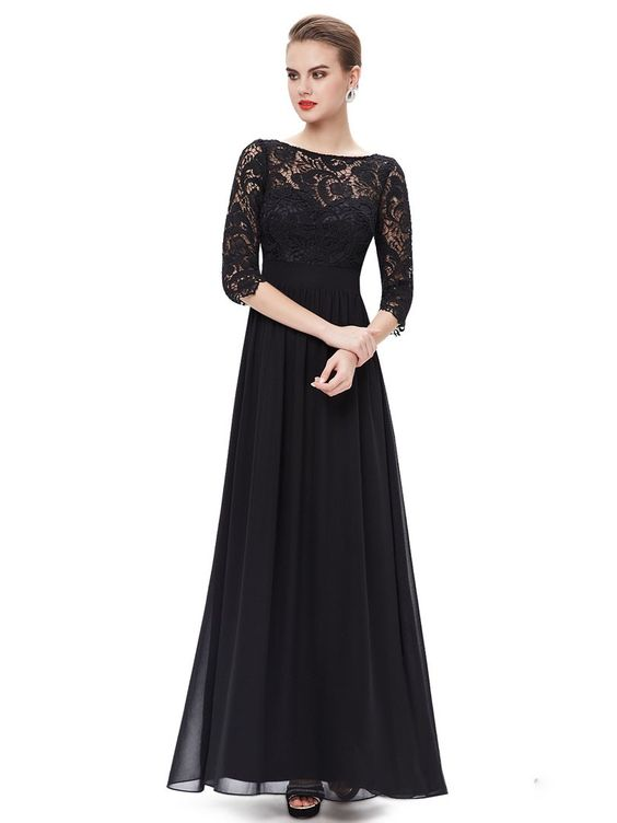 black dresslace dressmaxi dress  Clothing and Style  Pinterest ...