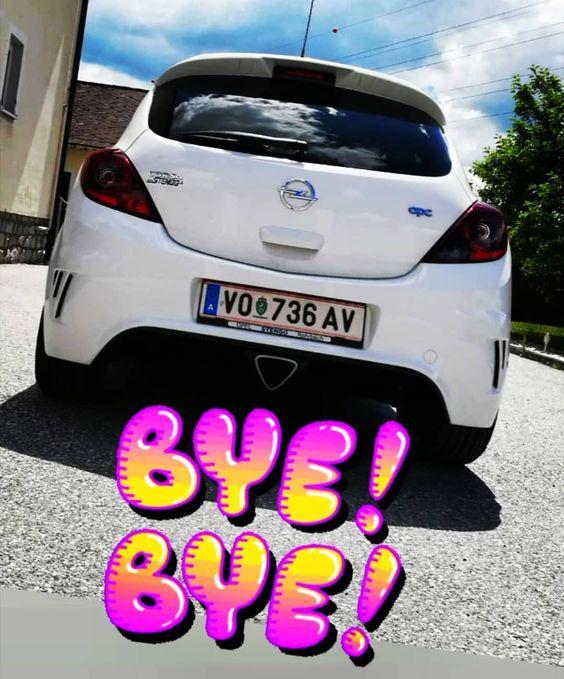 Bye Bye Opel Corsa Opc 192 Ps Hp Horsepower Pferde Strke Verkauft Sold Sound Laut Benzin Turbo Gute Fahrt Weiss Whi Car Vehicles