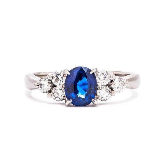 Vintage Sapphire Engagement Ring   Decatur, Modern Era. This website has amazing vintage rings.