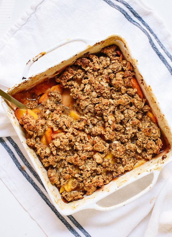 Gluten-Free Peach Crisp | Recipe | Gluten, The o'jays and Peach crisp ...