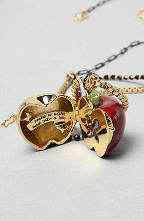Snow White's poisoned apple I simply adore this necklace I got it for christmas last year! <3: