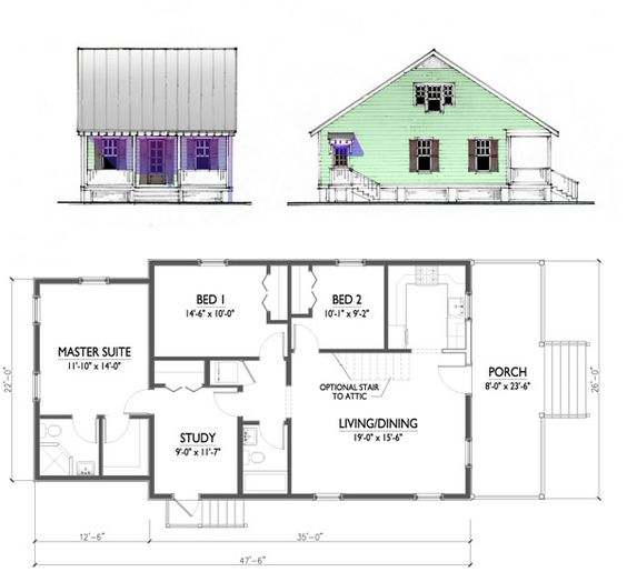 Katrina cottage house plans plans not to scale drawings Creole cottage house plans
