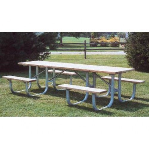 10 Ft Heavy Duty Ada Wooden Shelter Picnic Table With 4 Legs Allows Access By Wheelchairs The Park Catalog Picnic Table Table