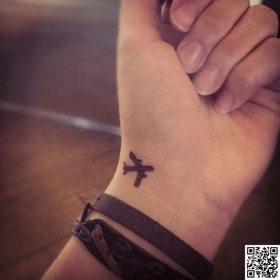 18. #Airplane - 32 Inspiring #Wrist Tattoos ... → #Lifestyle #White