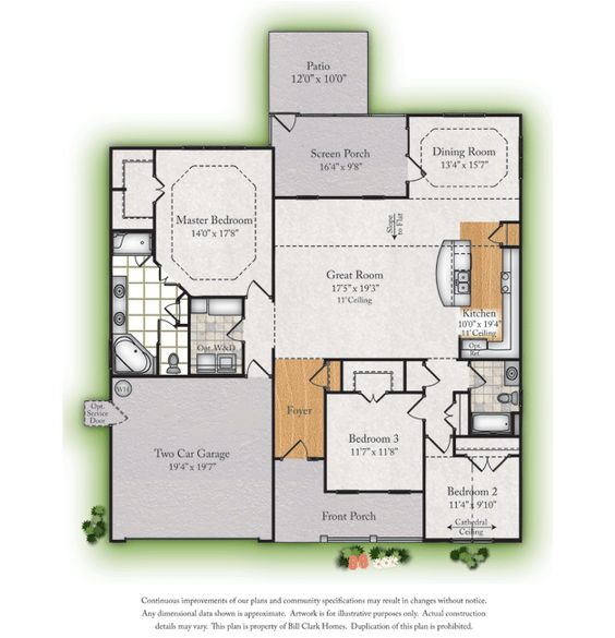 Love this floor plan, it's a winner! Bill Clark Homes - New Home Builder and Real Estate Developer