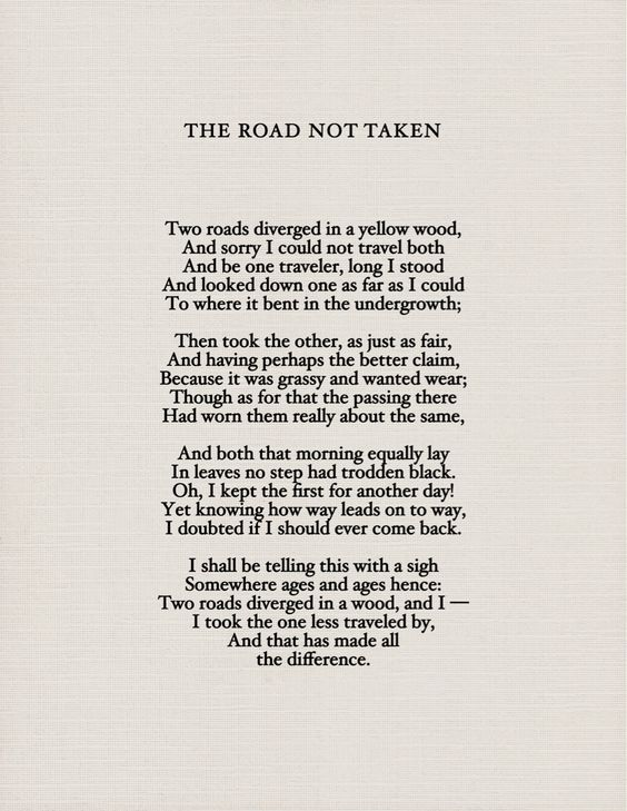 the road not taken essays