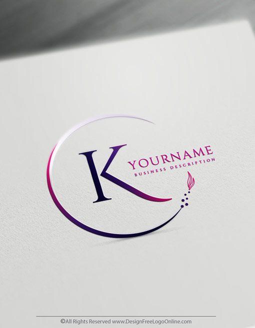 Online Free Letter Logo Maker Minimalist Alphabet Frame Logo