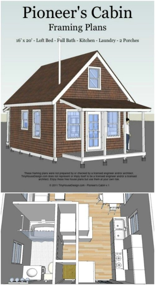 17 Do It Yourself Tiny Houses With Free Or Low Cost Plans Tiny House Plans Free Cheap Tiny House Tiny House Plans Small Cottages