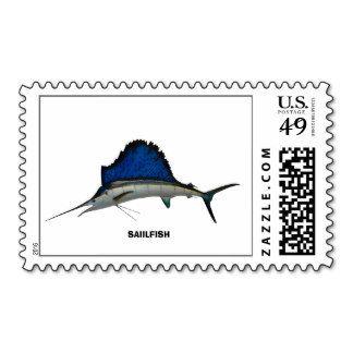 Estampillas postales, pez volador