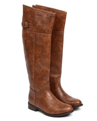 $45.50 OVER THE KNEE BOOTS Womens Wide Calf Flat Riding Faux Leathe