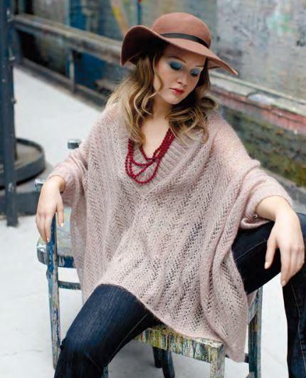 Trinity Knit Poncho Pattern | Pinterest | Puntadas, Hilos y lana y ...