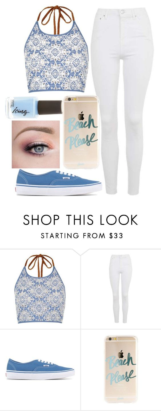 """""""Untitled #355"""" by indianna28-2002 ❤ liked on Polyvore featuring River Island, Topshop and Vans"""
