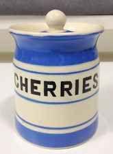 VINTAGE PRICE BROS KITCH WARE 'CHERRIES' BLUE