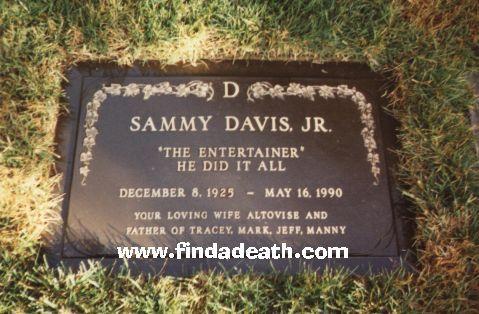 Gravesite Of Sammy Davis Jr Sammy Davis Jr Junior Famous Graves
