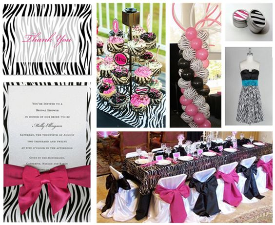 zebra party invitations