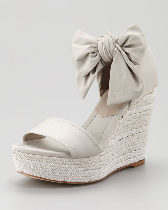 Donald j pliner Tiam Crepe Elastic Espadrille Wedge Neutral in Beige (NEUTRAL/OYSTER)