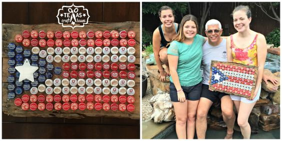 {Texas Craft House} Ever wondered what to do with those beer caps you're saving? Check this how to!