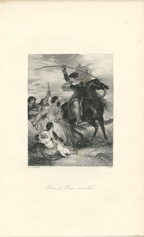 """""""Bon of Peace and War,"""" an 1841 engraving from The Book of Archery.  Available at http://www.uncannyartist.com/products/1841-prints-archery."""
