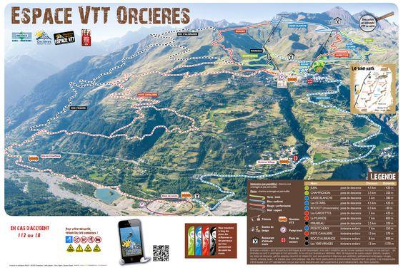 Orcières 1850 : son espace VTT de descente, entre 2650 et 1350m d'altitude !