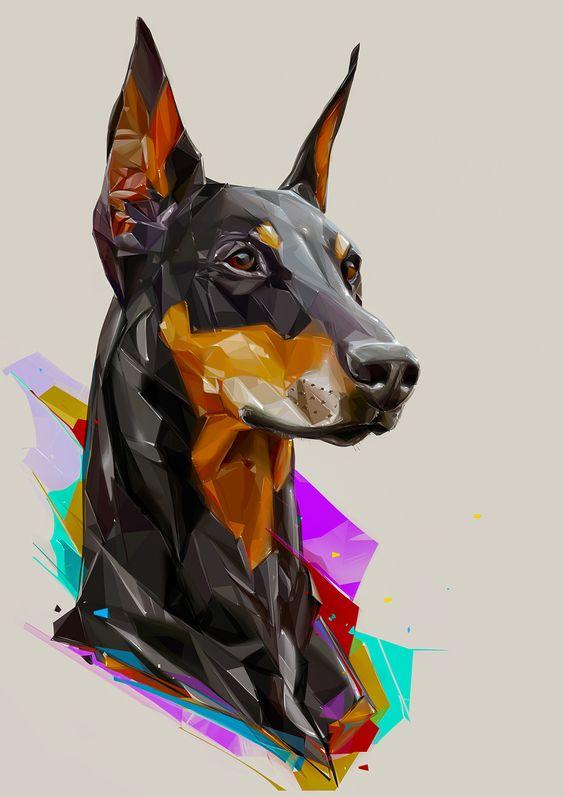 アーティスティックなおしゃれでかっこいい犬の壁紙