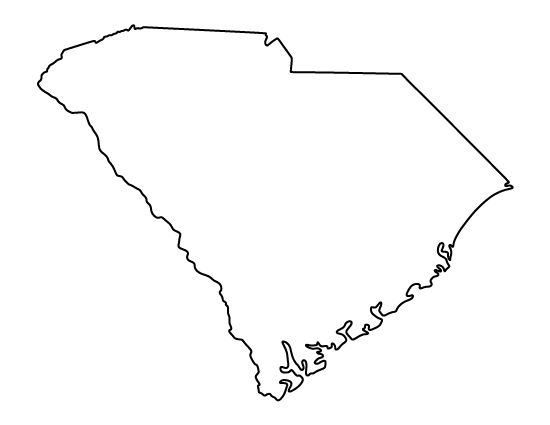 south carolina coloring pages - map of south carliana free coloring pages