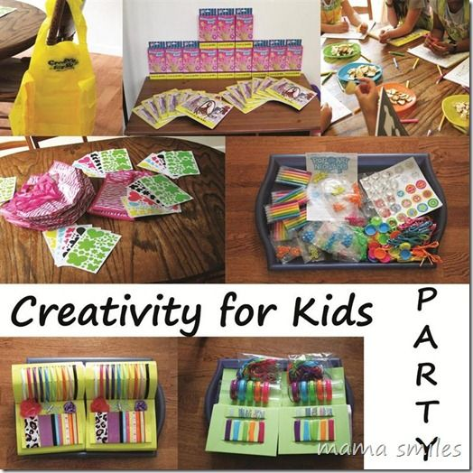 creativity for kids back to school party!