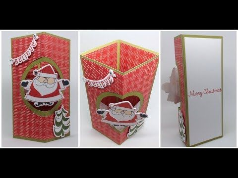 Floating Pop Box Card Youtube Shaped Cards Box Cards Tutorial Fun Fold Cards