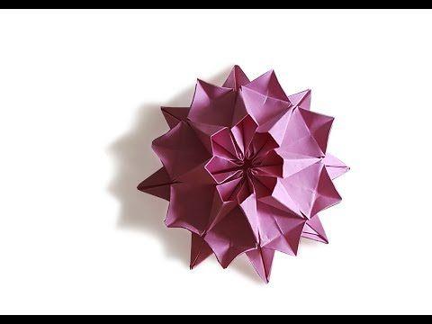 Origami Dahlia Flower Origami Easy Tutorial Youtube Origami Easy Dahlia Flower Easy Tutorial