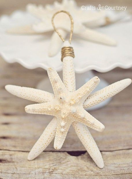 DIY Starfish Ornaments: Getting Beachy With Christmas from Crafts by Courtney