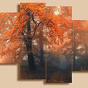 Картины и панно ручной работы. Ярмарка Мастеров - ручная работа Осенний туман. Handmade.