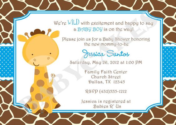 Giraffe Baby Shower Invitation Baby Sprinkle Twins By Jcbabycakes, $12.00