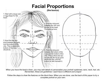 PDF Facial Proportions Drawing Guide How-to   Facials and Drawings