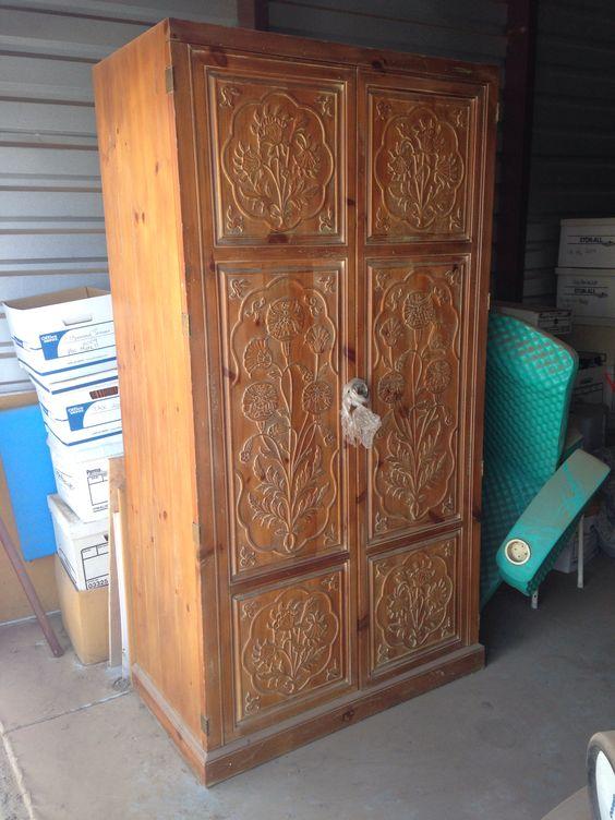 Art nouveau henredon armoire