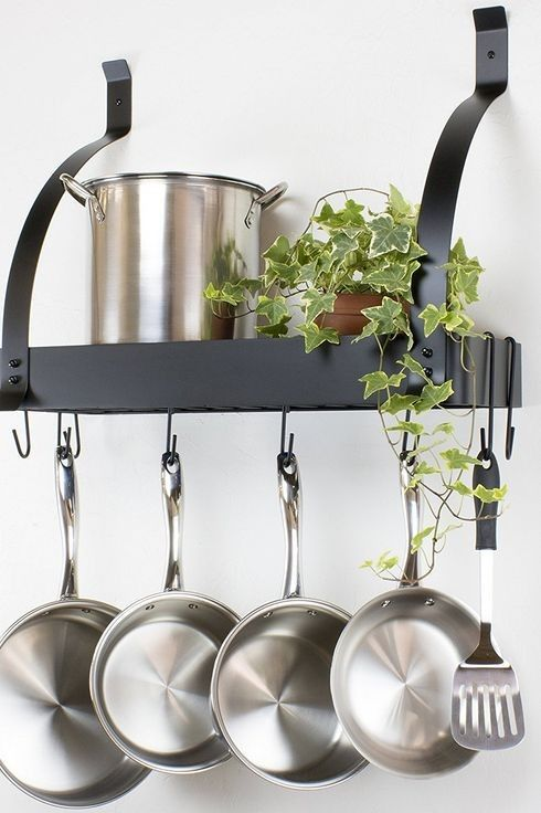 Pin By Sara Dubois On Apartmentalization In 2020 Kitchen Pot Pot Rack Kitchen