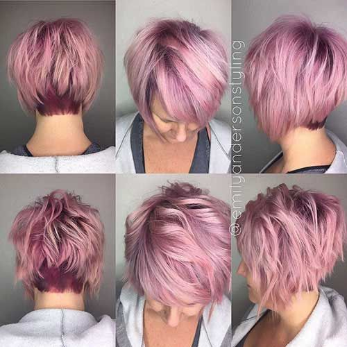 Pink Short Hair Pink Short Hair Short Hair Balayage Hair Color Pink