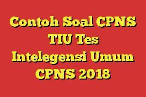 Contoh Soal Cpns Tiu Tes Intelegensi Umum Cpns 2018 Contoh Soal Tiu Cpns 2018 Terlengkap Dan Kunci Jawaban Bocoran Soal Cpns 2018