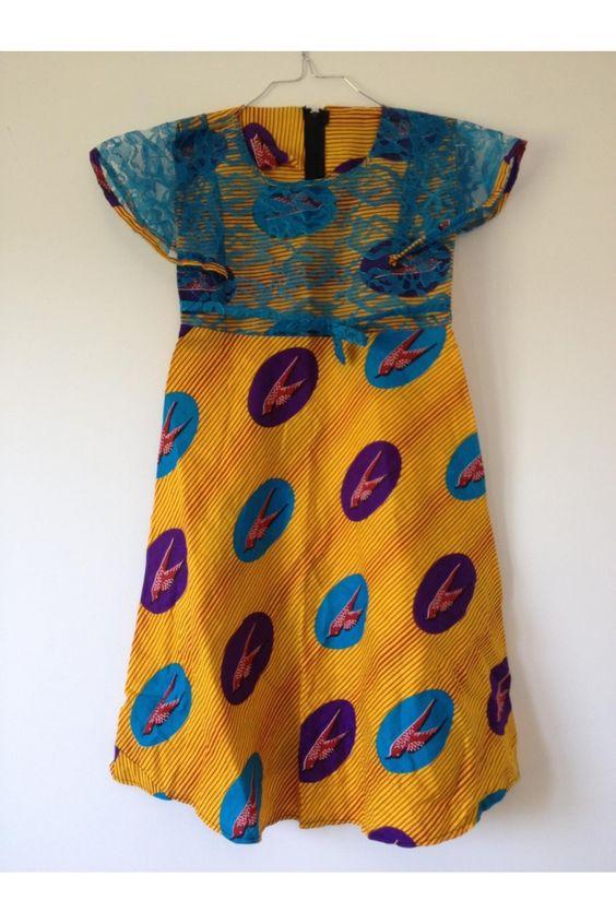 robe africaine wax fille 6 8 ans mode africaine enfant pagne n 33 pagne pour enfant. Black Bedroom Furniture Sets. Home Design Ideas