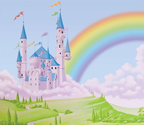 Image result for rainbow castle