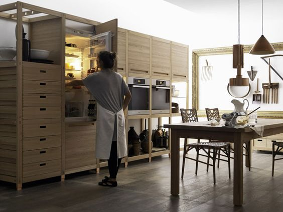 Modern Italian Rusticity from Valcucine | Drawers, Modern and Kitchens