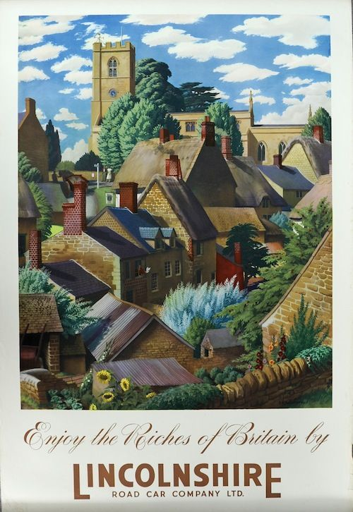 Enjoy the Riches of Britain by Lincolnshire Road Car Company Ltd S R Badmin Coach poster