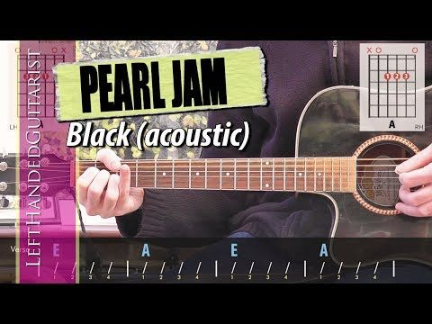 Pearl Jam Black Simple Acoustic Guitar Lesson Youtube Pearl Jam Black Acoustic Guitar Lessons Guitar Lessons