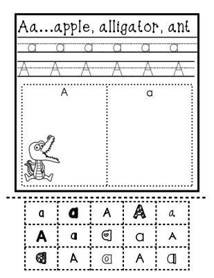 Alphabet Sorting- Upper Case and Lower Case from Miss Caroline on ...