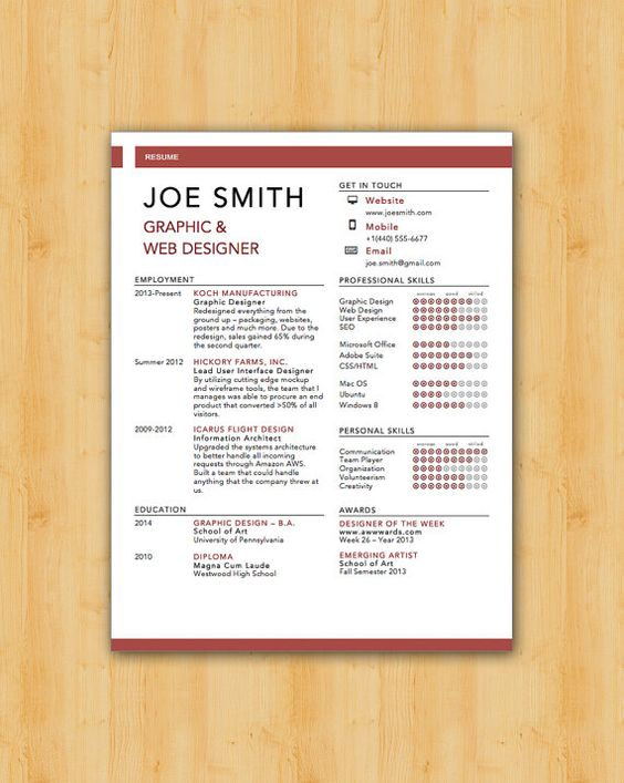 Swiss Resume and Cover Letter Template - Helping You Save Time & Get The Dream Job You Deserve - Instant Download: