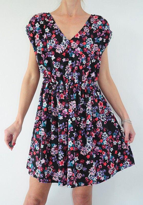 Sukienka Czarna Kwiatki R 42 New Look Vinted Casual Dress Plus Size Women Dresses