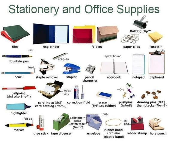 Learning English with pictures - Office business
