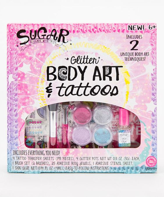Look at this Glitter Body Art & Tattoos Craft Kit on #zulily today!