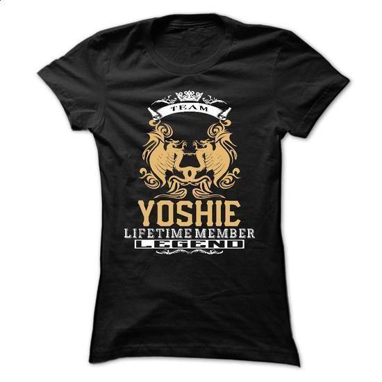 YOSHIE . Team YOSHIE Lifetime member Legend  - T Shirt, - t shirt printing #white hoodie #vintage t shirt