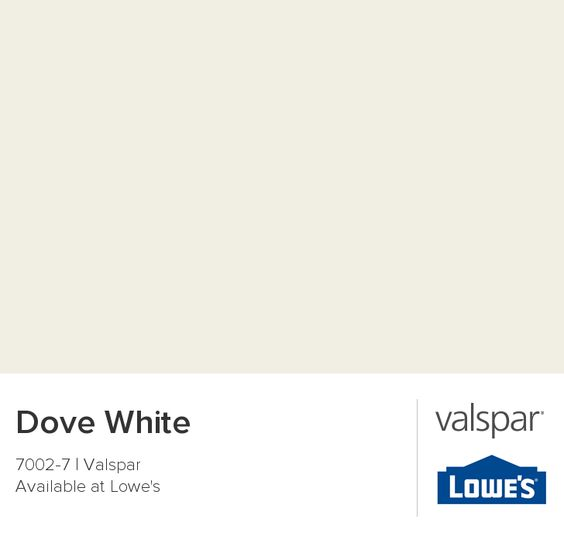 Color of trim dove white from valspar duramax satin for Dove white paint color