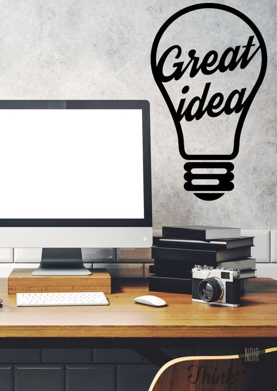 Wall Art For Your Office : This office wall decal will be perfect large